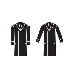 men overcoat black concept icon men vector image