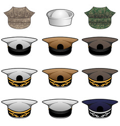 military hats vector image