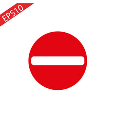 no entry traffic sign mesh vector image