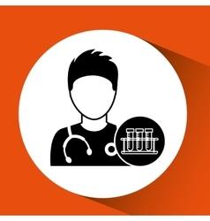 Nurse cartoon test tube laboratory design vector