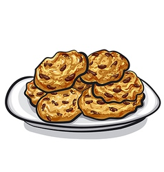 Oatmeals cookie vector