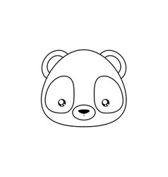 panda drawing face vector image