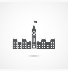 Parliament canada icon vector