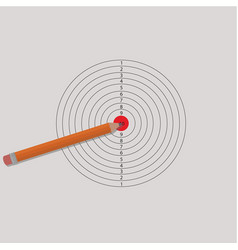 pencil and target for shooting vector image