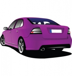 Pink sedan vector