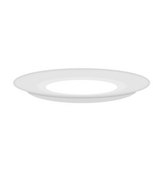 plate empty isolated empty dish cutlery to eat on vector image