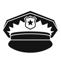 police cap icon simple style vector image