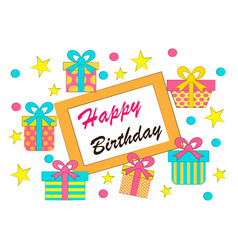 postcard with a birthday vector image