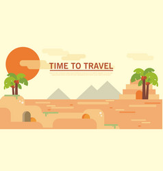 Pyramid egypt destination travel typography vector