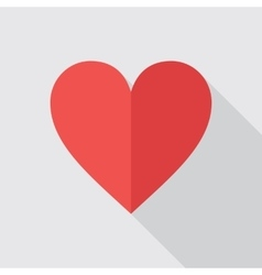 Red Heart Flat Icon vector image