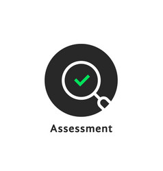 Round simple assessment logo on white vector