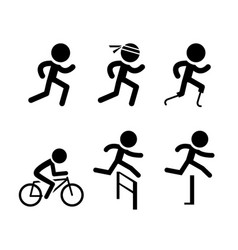 Running icons and symbol in design vector