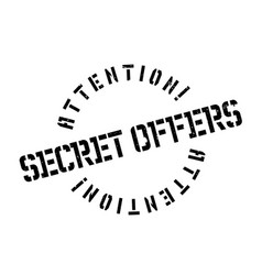 Secret offers rubber stamp vector