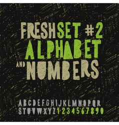 set hand drawing alphabet and numbers vector image