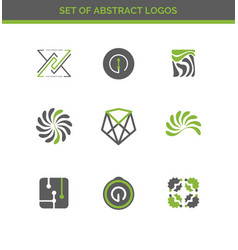 Set of abstract design logos for company vector
