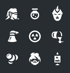 Set people mutation icons vector