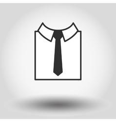 Shirt with nectie vector