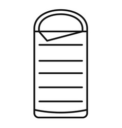 Sleeping bag icon outline style vector