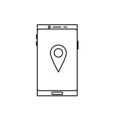 smartphone location icon vector image