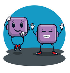 smiley faces emoji emoticons icons vector image