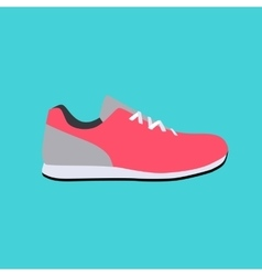 Sport Sneakers Icon Flat vector image