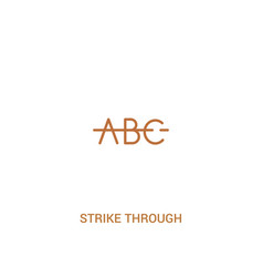 strike through concept 2 colored icon simple line vector image