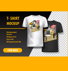 T-shirt template fully editable with truck vector