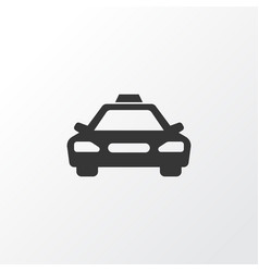 Taxi icon symbol premium quality isolated car vector
