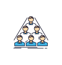 team build structure business meeting flat color vector image