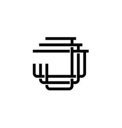 Triple j monogram jjj letter hipster lettermark vector