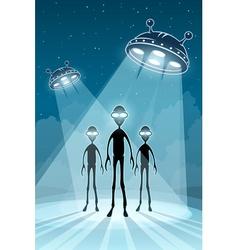 UFO alien newcomers vector
