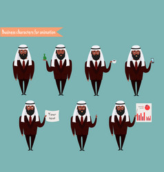 arab character for scenes vector image