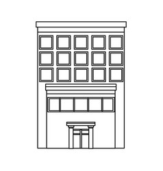 business building center facade office exterior vector image vector image