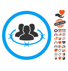 Concentration camp icon with lovely bonus vector