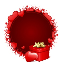 heart gift and frame vector image vector image