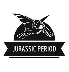 Jurassic cute logo simple black style vector