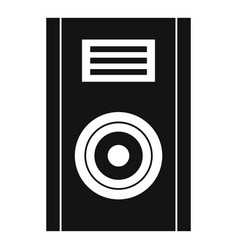 music speaker icon simple style vector image vector image