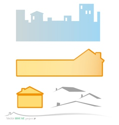 real estate banner and background set vector image vector image