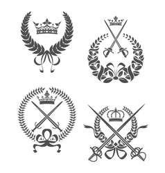Retro laurel wreathes vector image vector image