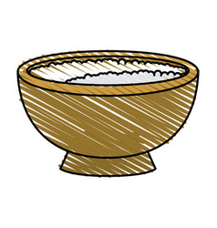 rice bowl vector image vector image