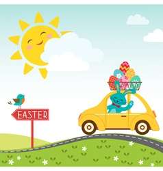 Road to happy Easter vector image vector image