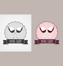 wine shop and wine list monochrome an vector image