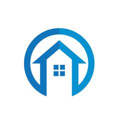 circle home construction business logo vector image vector image