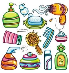 Icon set hygiene accessories vector image vector image