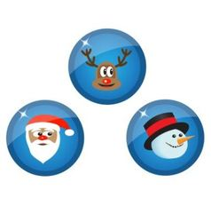 icons with Christmas characters vector image