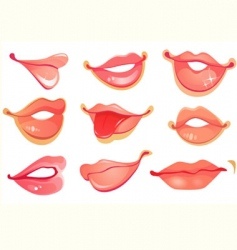 lips set vector image