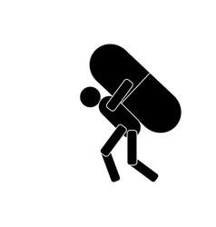 man carrying medicine icon vector image