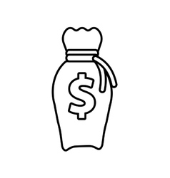 money bag business finance line vector image
