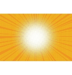 The sun comic book retro pop art background vector image vector image