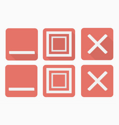 web buttons set in flat style with and without vector image vector image
